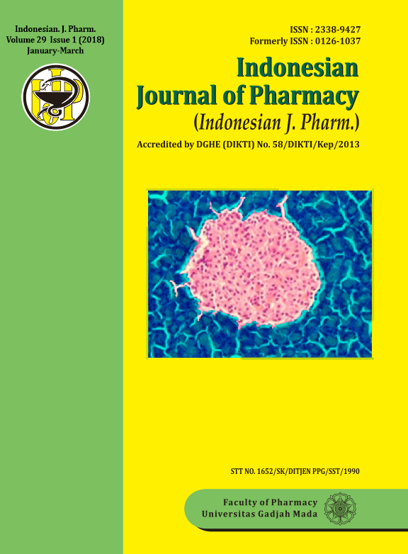 Indonesian Jornal of Pharmacy Volume 29, Issue 1 (2018) January-March
