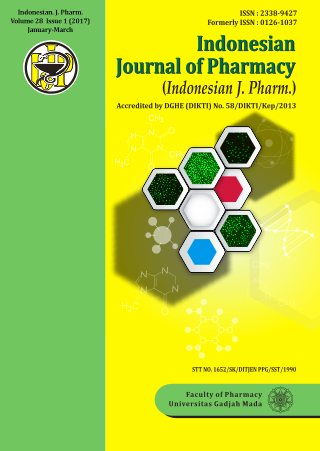 Indonesian Journal of Pharmacy Volume 28 Issue 1 (2017) January-March